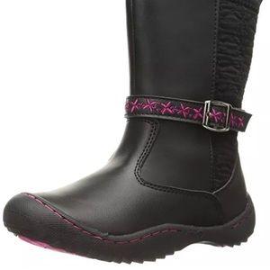 Jambu Lillia Casual Riding Boots Black & Pink sz 1